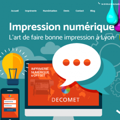 imprimerie Decomet caluire screen site internet FBMediaworks creation site internet lyon