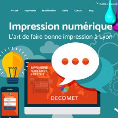 imprimerie Decomet caluire screen site internet FBMediaworks creation site internet lyon
