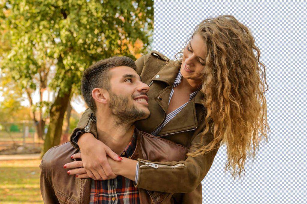 détourage cheveux impression numérique decomet paris
